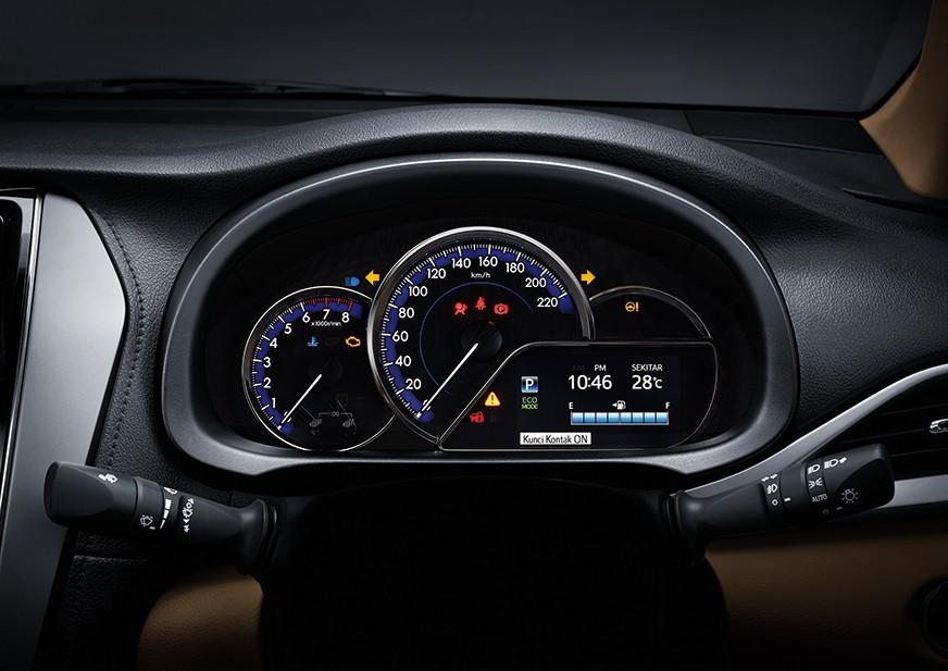 instrumen mid speedometer pada Toyota Vios facelift joker 2018