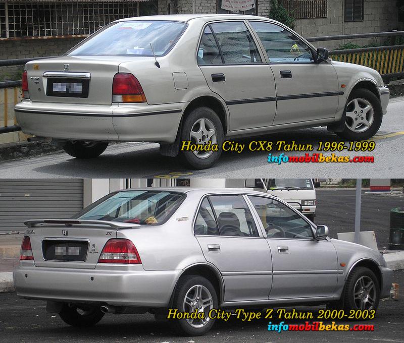 Perbandingan Eksterior Belakang Honda City Type Z dan Honda City SX8