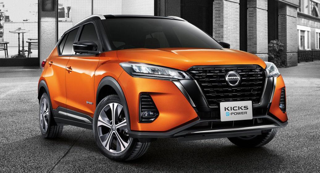 All New Nissan Kicks e-power orange front2 2020