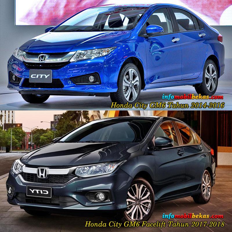 perbandingan eksterior depan honda city gm6 dan facelift 2017