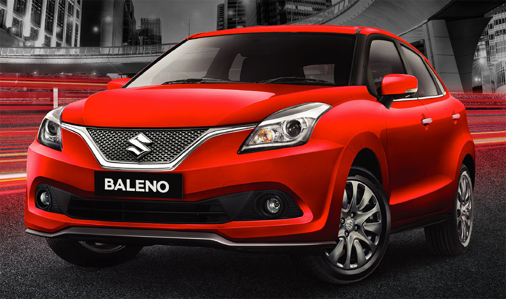 suzuki baleno gen 4 tahun 2017-red-front-side