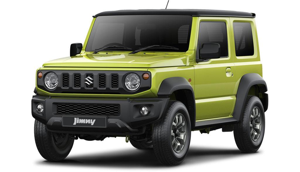 suzuki jimny gen 4 front-green